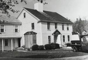 Restoration work on the Deacon Eldred House in 1975 (Photo courtesy Sandwich Town Archives)