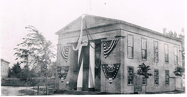 Town Hall 1889 (Courtesy Sandwich Town Archives)