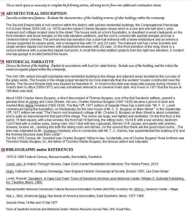MACRIS Form B, page 2